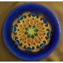 Plato De Cerámica Decorativo - Relieve Y Diseño Mandala