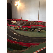 Pista De Scalextric Autoslot Scx Maqueteada Con Autos!!!