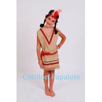 Disfraz India Acto Patrio Colegio Fiesta Escuela Dama Vincha