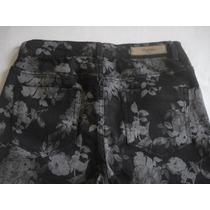 Jean Floreado Chupin Elastizado Skinny Zara Nuevo Talle 26
