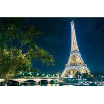 Cuadro De Torre Eiffel-paris Tela Canvas Con Bastidor 95x63