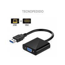 Cable Conversor Adaptador Usb 3.0 A Vga Soporta Usb 2.0