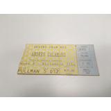 Entrada Show Andrés Calamaro Teatro Gran Rex 1997