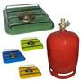Calentador Anafe Bram-metal + Garrafa Foco 1 Kg Recargable