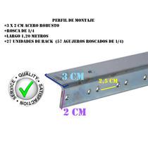Perfil Para Anvil Potencias Acero Montaje Rack Amplificadore