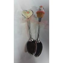 Cucharitas Decoradas. Souvenirs Para 15, Cumpleaños, Casamie