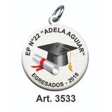 Medallas Egresados Jardín Abanderado Con Nombre Colegio