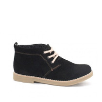 Botita De Gamuza - Zapato Con Cordones - Otoño / Invierno