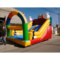 Tobogan Inflable Payaso + Turbina De Regalo! Macjuegos
