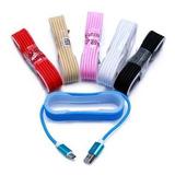 Cable De Datos Mallado-liso Micro Usb Ditron Sk Cb56 1,5 Mts