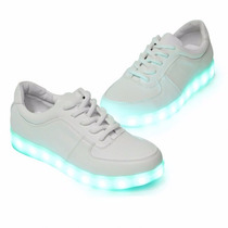 Zapatillas Luces Led 7 Colores Usb Recargable Hombre Mujer