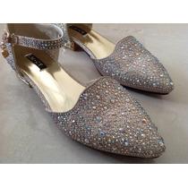 Zapatos Medio Taco Bajo Fiesta Únicos Mujer 15 O Casamiento