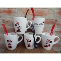 Tazas Mates Souvenirs Personalizados Mickey Minnie Sara Kay
