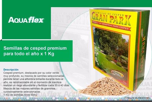 Semilla Cesped Premium Jardin Todo El Año X 1kg Aquaflex