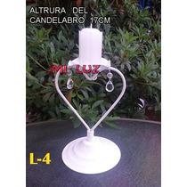 Porta Vela ,candelabro ,con Cairel ** Incluye Velon **