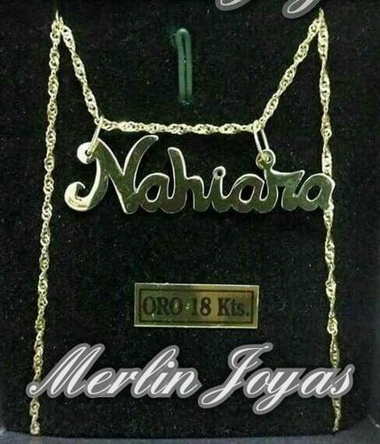 49d0937135 Conjunto Cadena Y Dije Nombre -2.5 Gramos - M. J. - en venta en ...