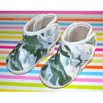 Bota Zapato Camuflada Bebe Gorditoo T 16-18 Little Treasure