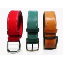 Cinturones Cintos, Cuero 100%, Nobuk Elije Hebilla Y Medida