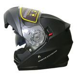 Casco Rebatible Punto Extremo Xr 650 Doble Visor - Sti Full