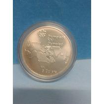Moneda De Plata Olimpiadas Montreal Año 1976 En Capsula