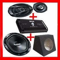 Woofer Sony 12 +potencia B52 1800 Watt+cajon+6x9 Sony+