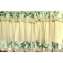 Cortinas Shabby Chic Decorativas Volados Puntilla Vintage