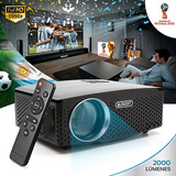 Proyector Mini Lp 2000 Lumens Portatil Led Hd Hdmi Vga Usb