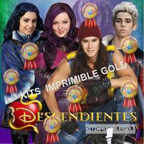 Kit Imprimible Descendientes Candy Invitaciones 2x1