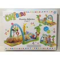 Mantita Didáctica 3 En 1 Ok Baby Interactiva Con Sonidos