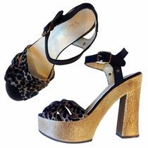 Zapatos Mujer Sandalias Noche Fiesta Taco Plataforma