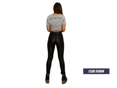 232d76179a Pantalon Engomado Mujer Negro Chupin Tiro Alto Elastizado! en venta en  Barrio Norte Capital Federal Capital Federal por sólo   899