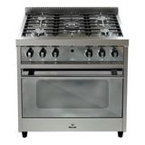 Cocina Morelli Zafira 900 5 Hornallas  A Gas/eléctrica Plateada 220v Puerta Visor