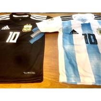Camiseta De La Seleccion Argentina  Rusia 2018. Niños
