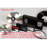 Conversion A Dvd O Pen -vhs-8mm-mini Dv-cine 8/s8/16 -audio