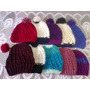 Lote De 10 Gorros De Lana Tejidos Al Crochet- Oferta Semanal