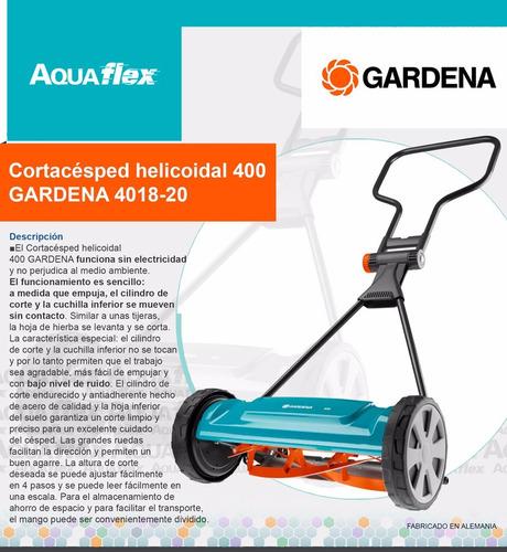 Cortacésped Manual Helicoidal 400 Gardena 4018 Aquaflex