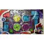 Bey Blade 6d Punta Metal Caja X 4 Grandes C/lanzador Y Pista