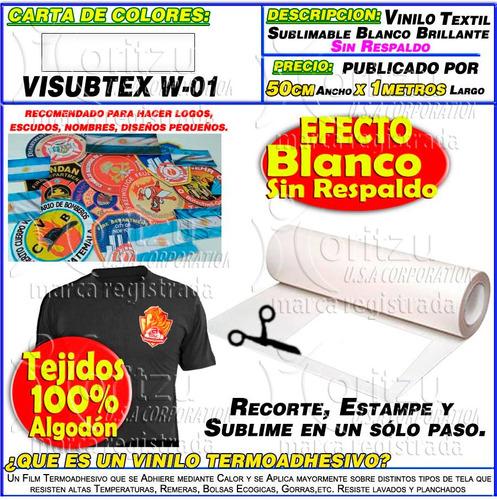 1854497db5ffe Etiquetas Con Vinilo Textil Sublimable S respaldo Moritzu