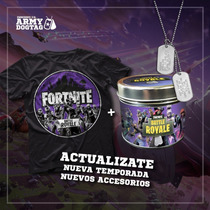 Remera Fortnite Temporada 6 + Lata Dogtags Fortnite 6