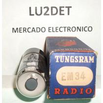 Valvula Electronica Em34, 6cd7, Cv394 Nos Nib Tungsram