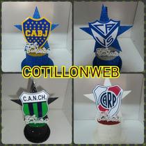 Centro De Torta Sombrero Club De Futbol Boca River Cotillon