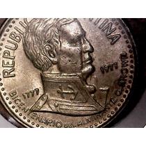 Variante Moneda 10 Pesos 1977 Sin Solapa