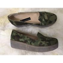 Zapato Mocasin Con Plataforma- Camuflado