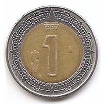México Moneda De 1 Peso Año1997 Km#603