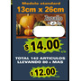 Cartel Lista Precio Oferta De Verduleria Carniceria Kiosco