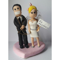 Adorno Torta O Central Porcelana Fria Casamiento Aniversario