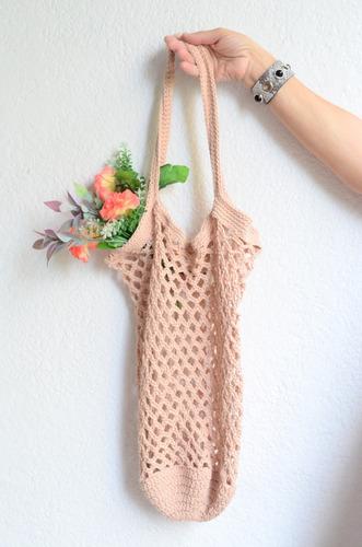 f3c53bdbb Bolsa Tejida A Mano Crochet Carteras X Menor Y X Mayor Chela