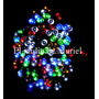 200 Led Rgb Luz Multicolor Solar 20mt Sin Cables Ni Enchufe
