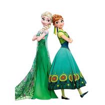 Disfraz Frozen Elsa Anna Coronación Princesa Vestido Importa