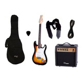 Combo Guitarra Electrica Sunburst Parquer Amplif 10w Cuota